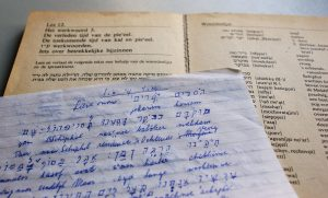 Hebrew workbook and study notes