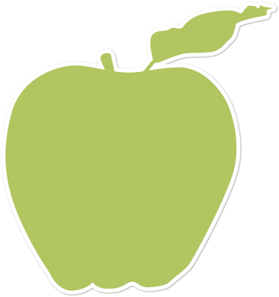apple silhouette for Hebrew lessons